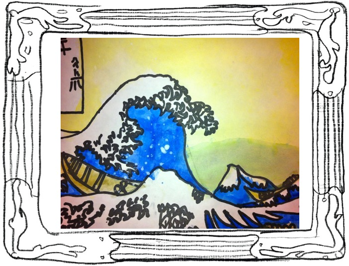 hokusai student artwork